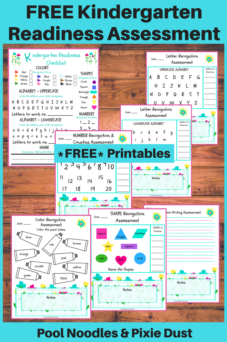 Free Printable Kindergarten Readiness Assessment