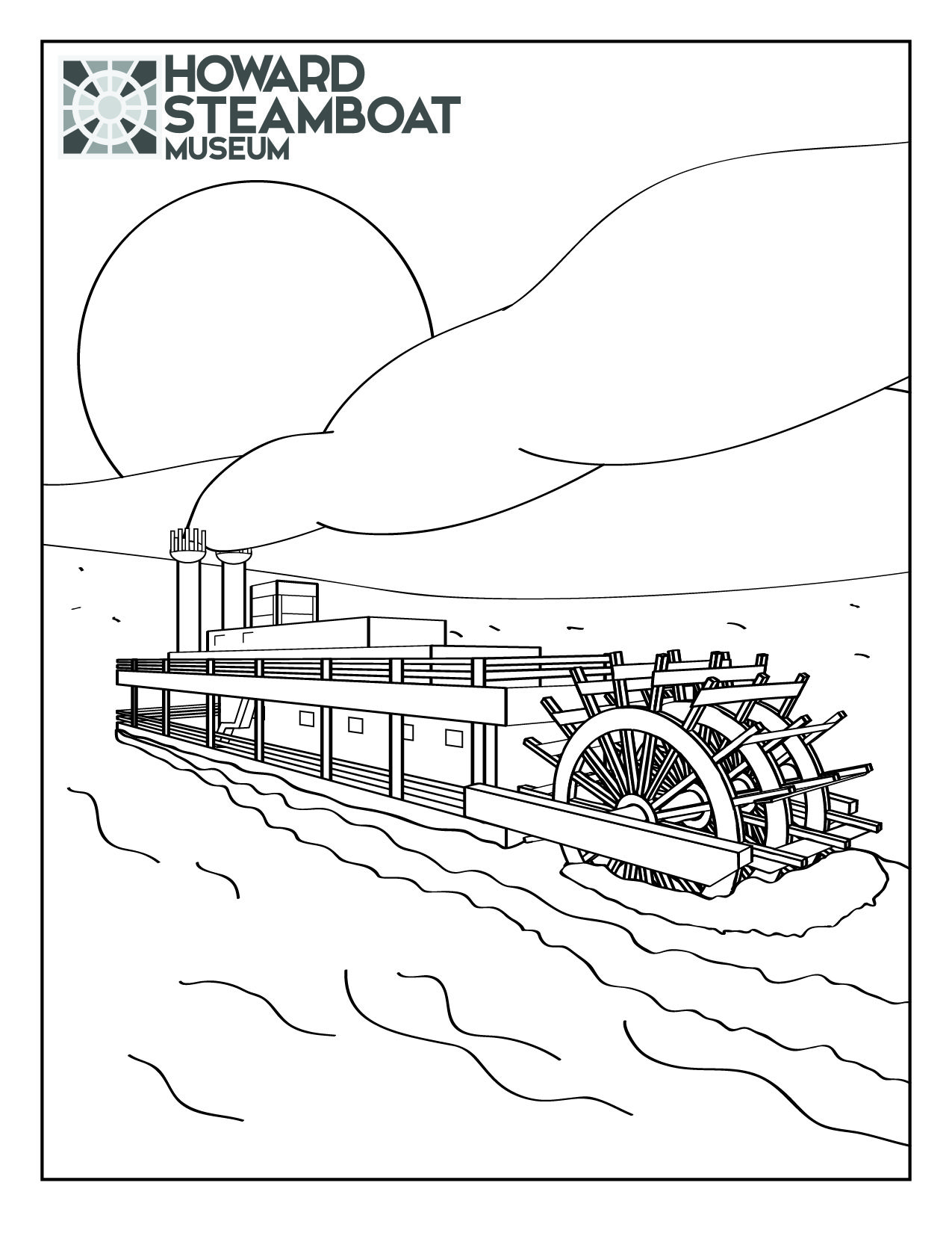 Steamboat Coloring Page Coloring Pages Color Steamboats