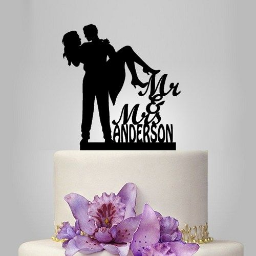 Mr and mrs wedding cake topper with cat and topper with dog ...