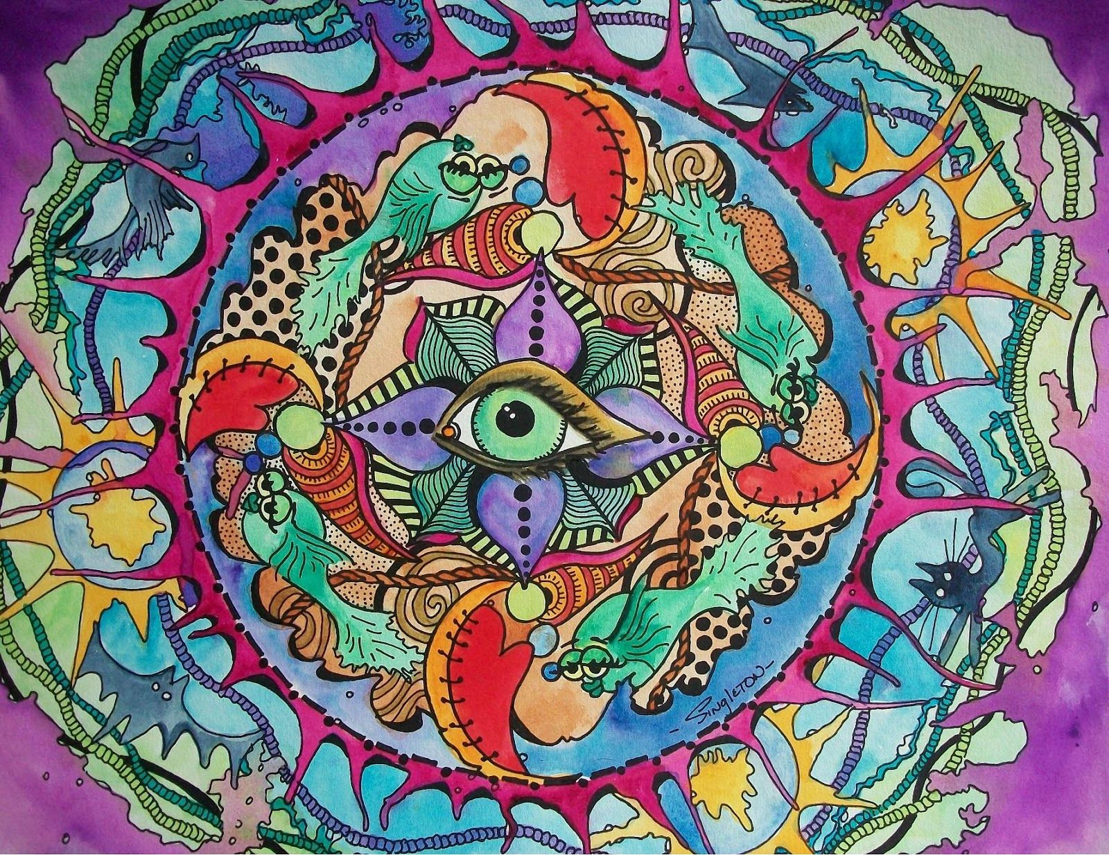psychedelic art   The Psychedelic Promise, Singleton Hippie Art