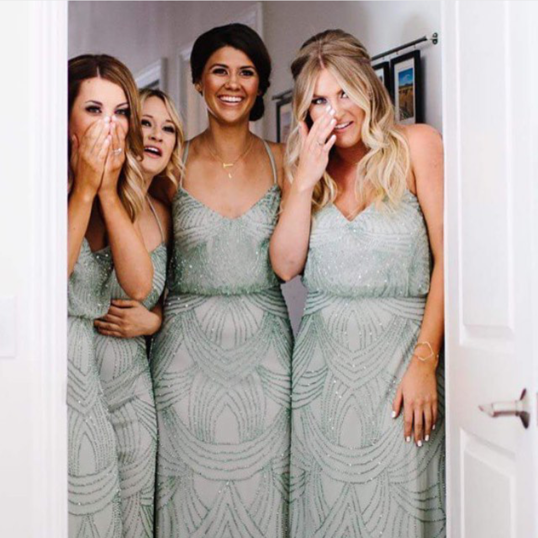 Find more at httpfeedproxygoogleramazingoutfits3 beaded sage green bridesmaid dresses for a spring wedding ombrellifo Gallery