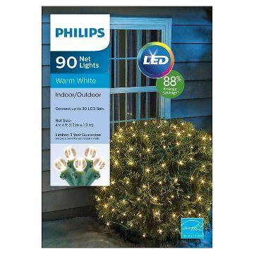 Philips 90 ct LED 4' x 4' Sphere Net Lights- Warm White