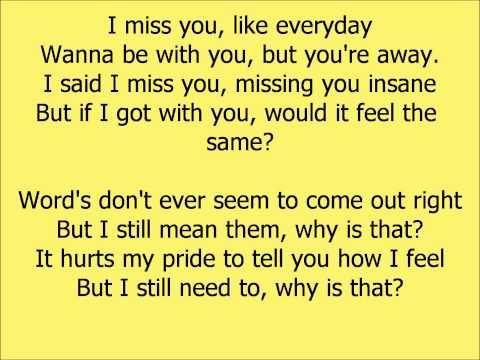 I miss you by beyonce lyrics
