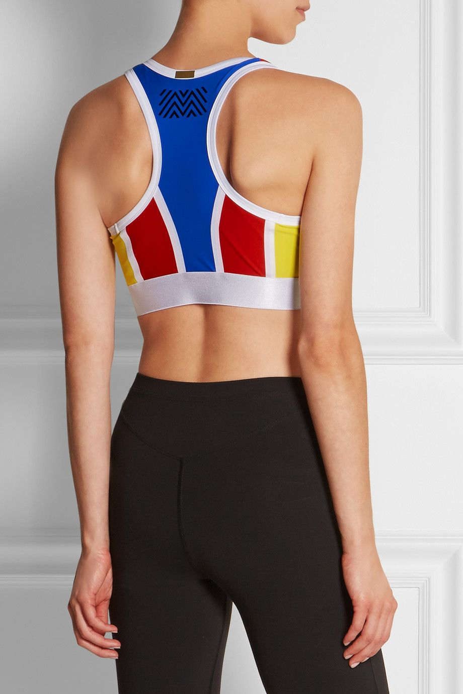 Monreal London Colorblock stretch sports bra NETA