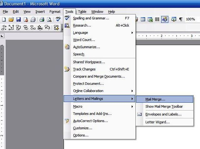 How to Do a Microsoft Word Mail Merge From an Excel Spreadsheet - spreadsheet compare