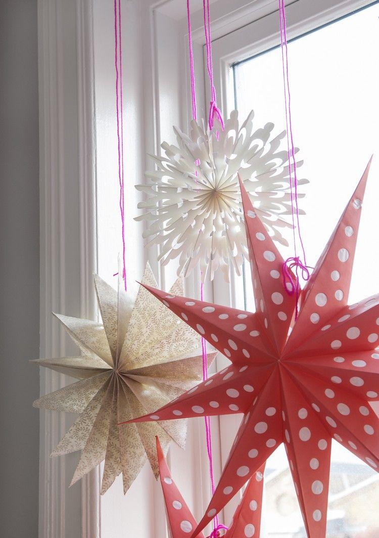 3D Papiersterne in verschiedenen Größen am Fenster | Basteln ...