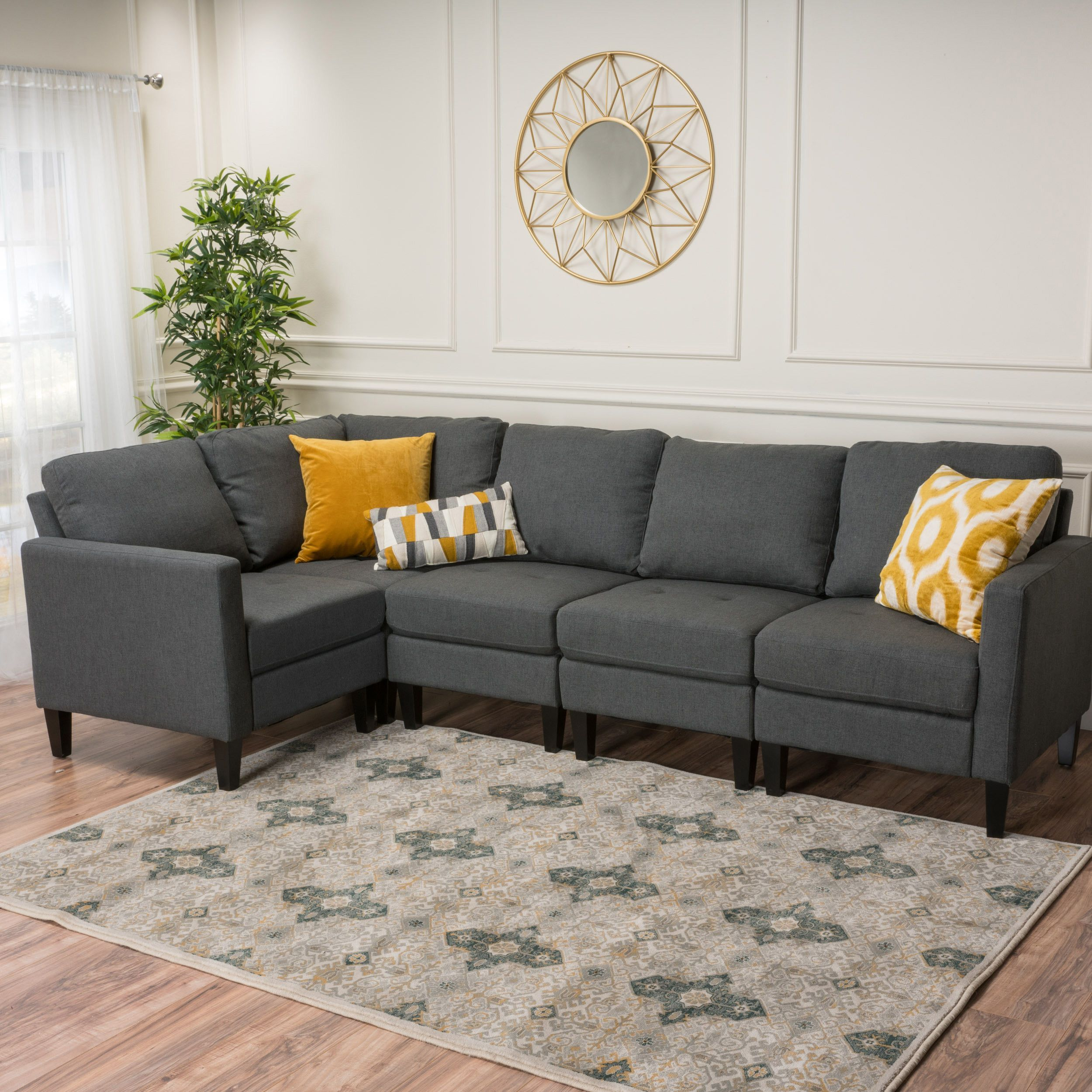 Carolina Fabric Sectional Couch