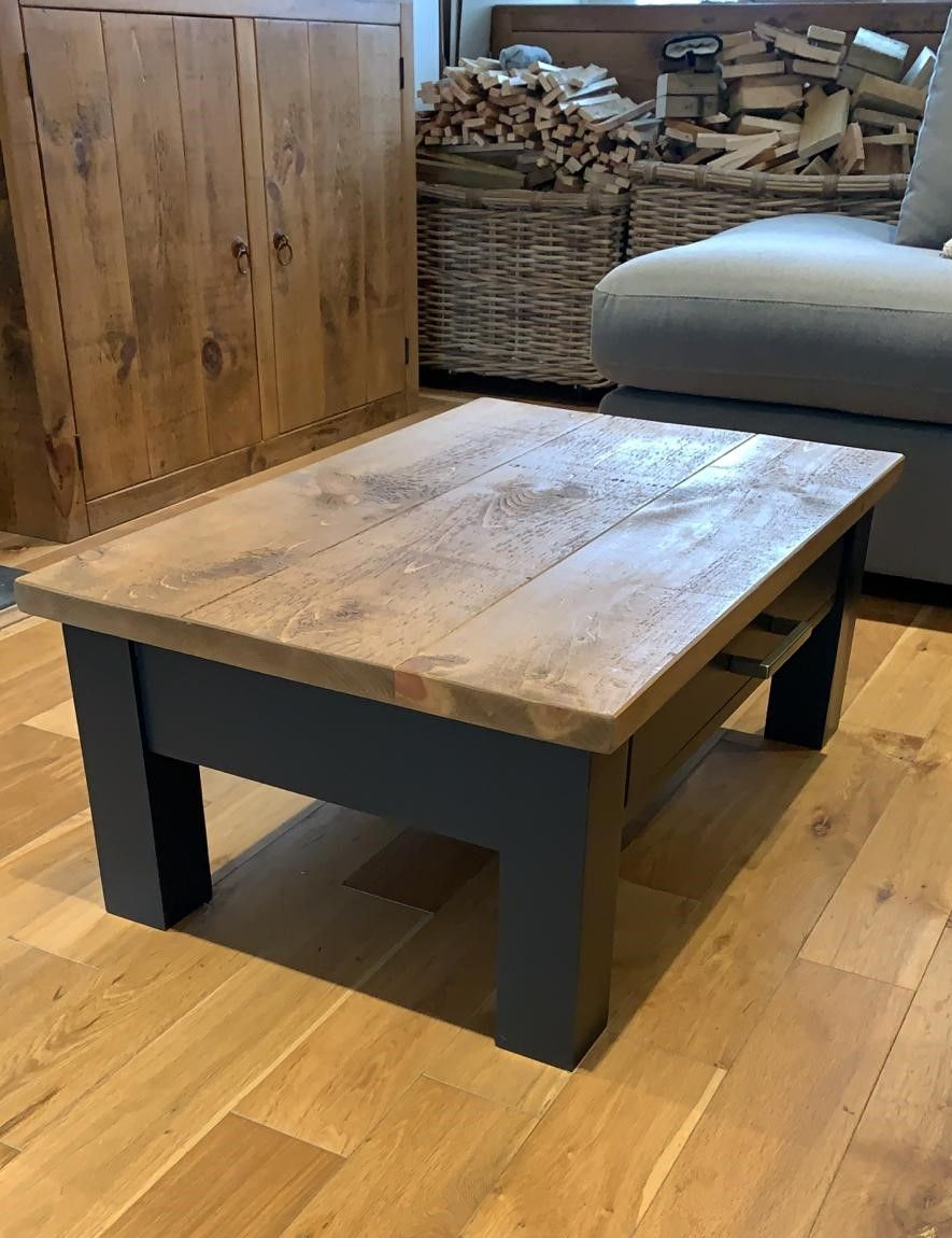 Painted Coffee Table with Rustic top   Coffee table ...