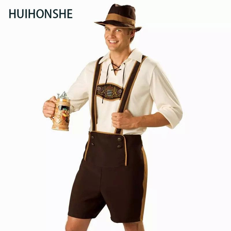 4b191aaa04 Plus Size Men s Oktoberfest Costumes Traditional German Bavarian Beer Male  Cosplay Halloween Octoberfest Festival Party Clothes Products include   top+pant + ...