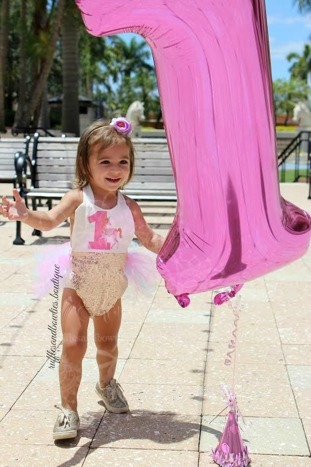 1f74a84dfda    EXCLUSIVE    Baby Girls Whimiscal Vintage Unicorn First Birthday Tutu  Romper - Exclusive Kryssi Kouture