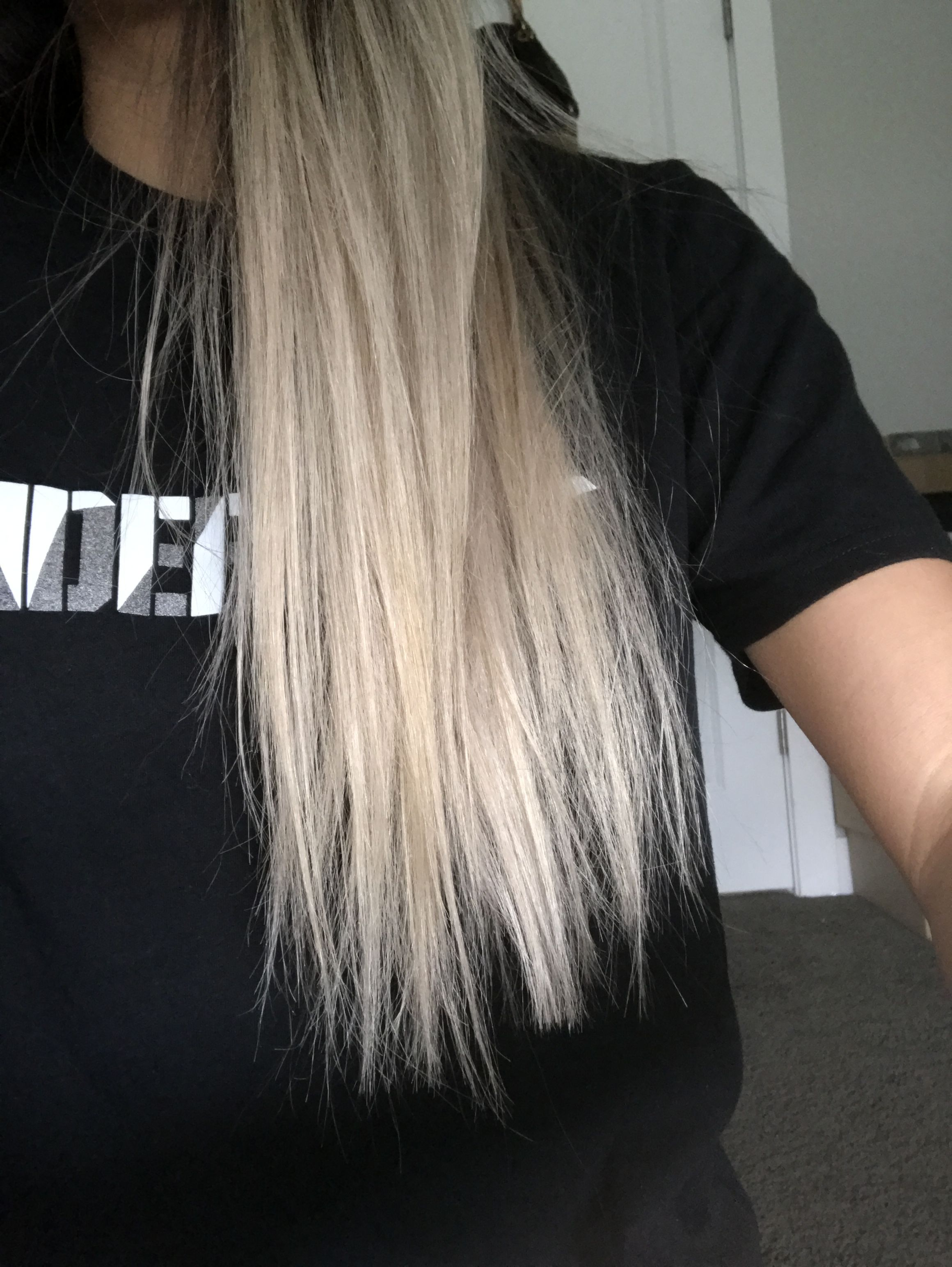Blonde Hair After One Wash After The Silver Toner Toner For