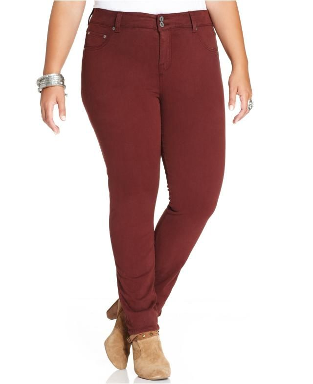 f2996f94c0c82 7 Absolutely Fabulous Jeans for Sizes 20 and Up  Lucky Brand Jeans Emma  Straight Jeans in Red (Plus SIze)