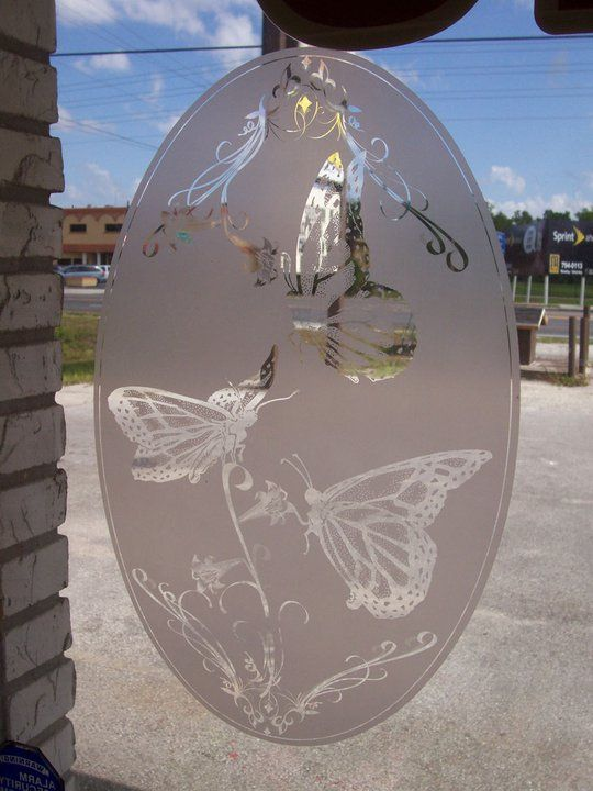 Butterfly Decal Looks Like Etched Glass These Butterflies