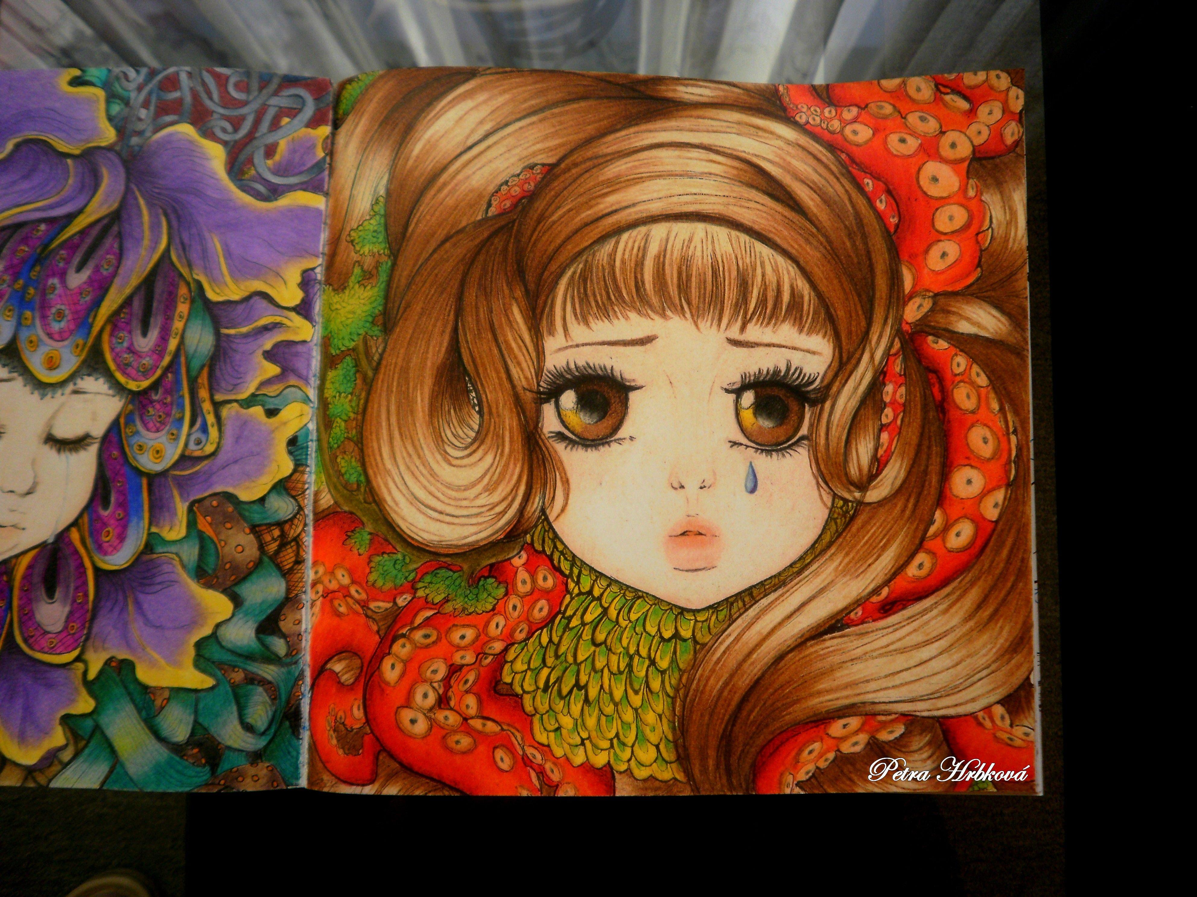 Pop Manga coloring Book Prismacolor | Pop Manga Coloring Book ...
