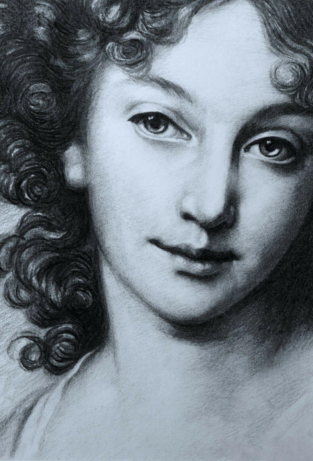 Details zu Holzkohleporträtskizze des klassischen