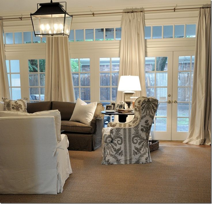 Nice Window Treatment For Multiple Double French Doors Or Sliding Glass But At