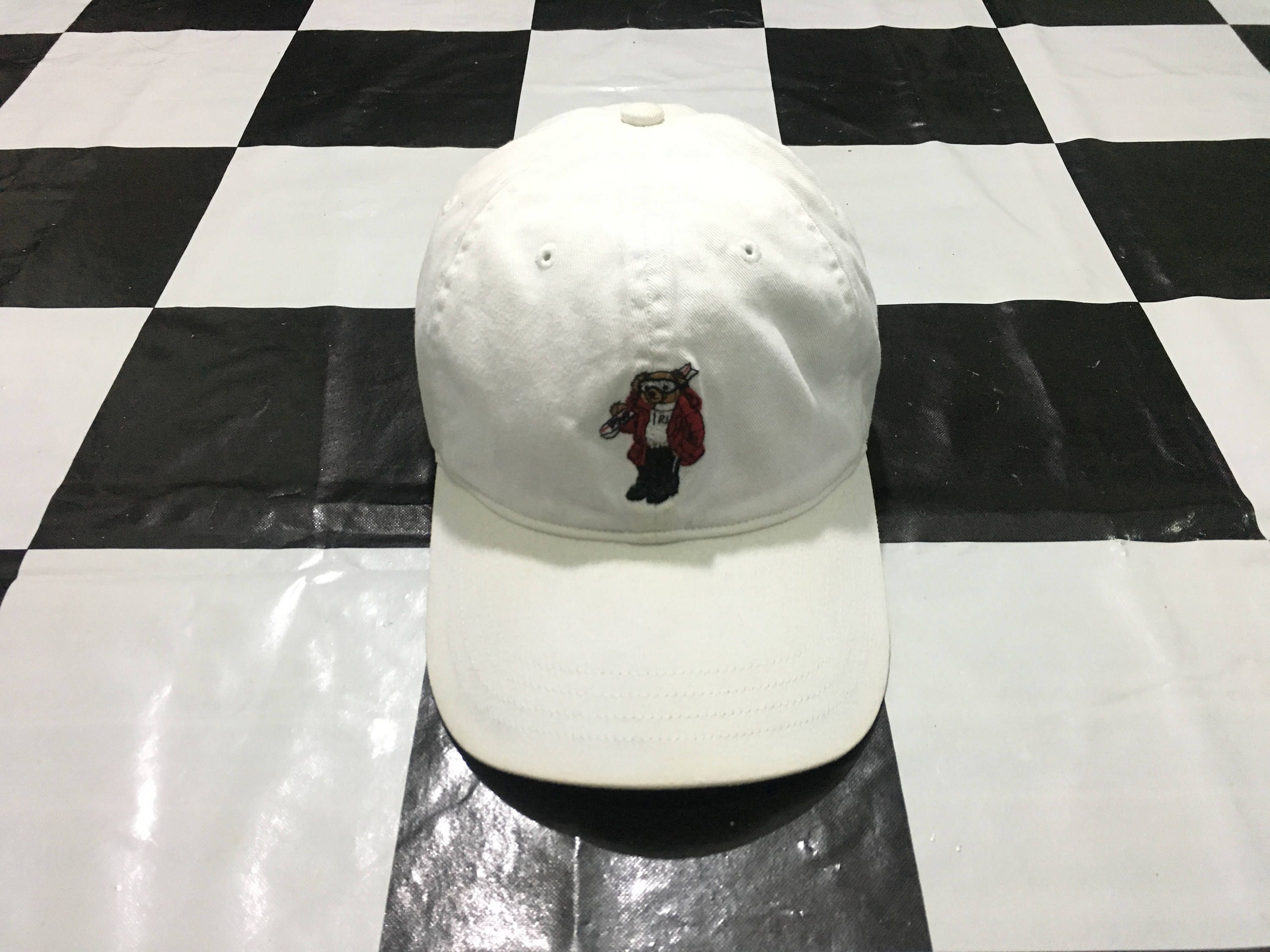 1d2d05659748a Vintage Polo bear ski cap leather strapback White Excellent condition Polo  bear by Ralph Lauren by AlivevintageShop on Etsy