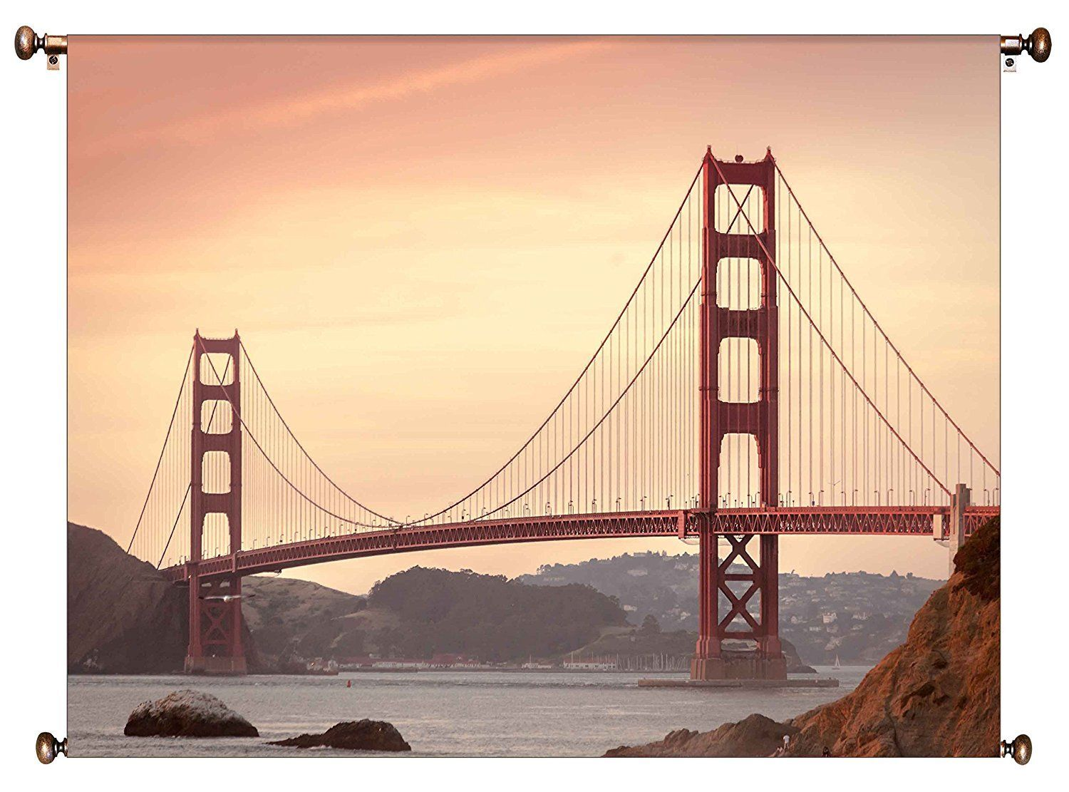 Golden Gate Bridge, San Francisco Picture on Canvas Hung on Copper ...