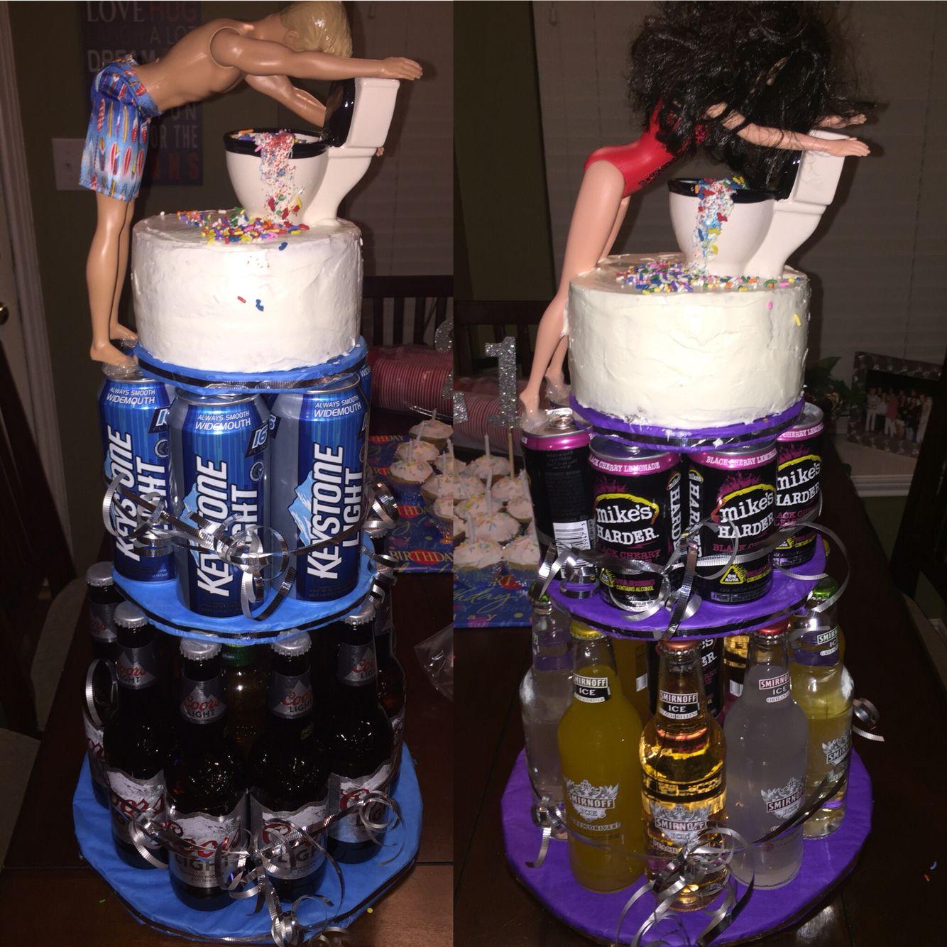 My Boyfriends And Best Friends 21st Birthday Cakes