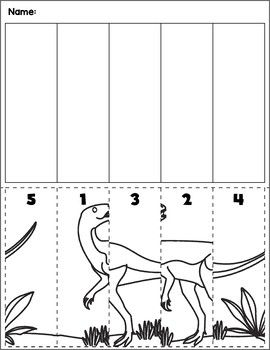dinosaur scene number sequence group 6 all elementary tpt dinosaurs preschool preschool. Black Bedroom Furniture Sets. Home Design Ideas