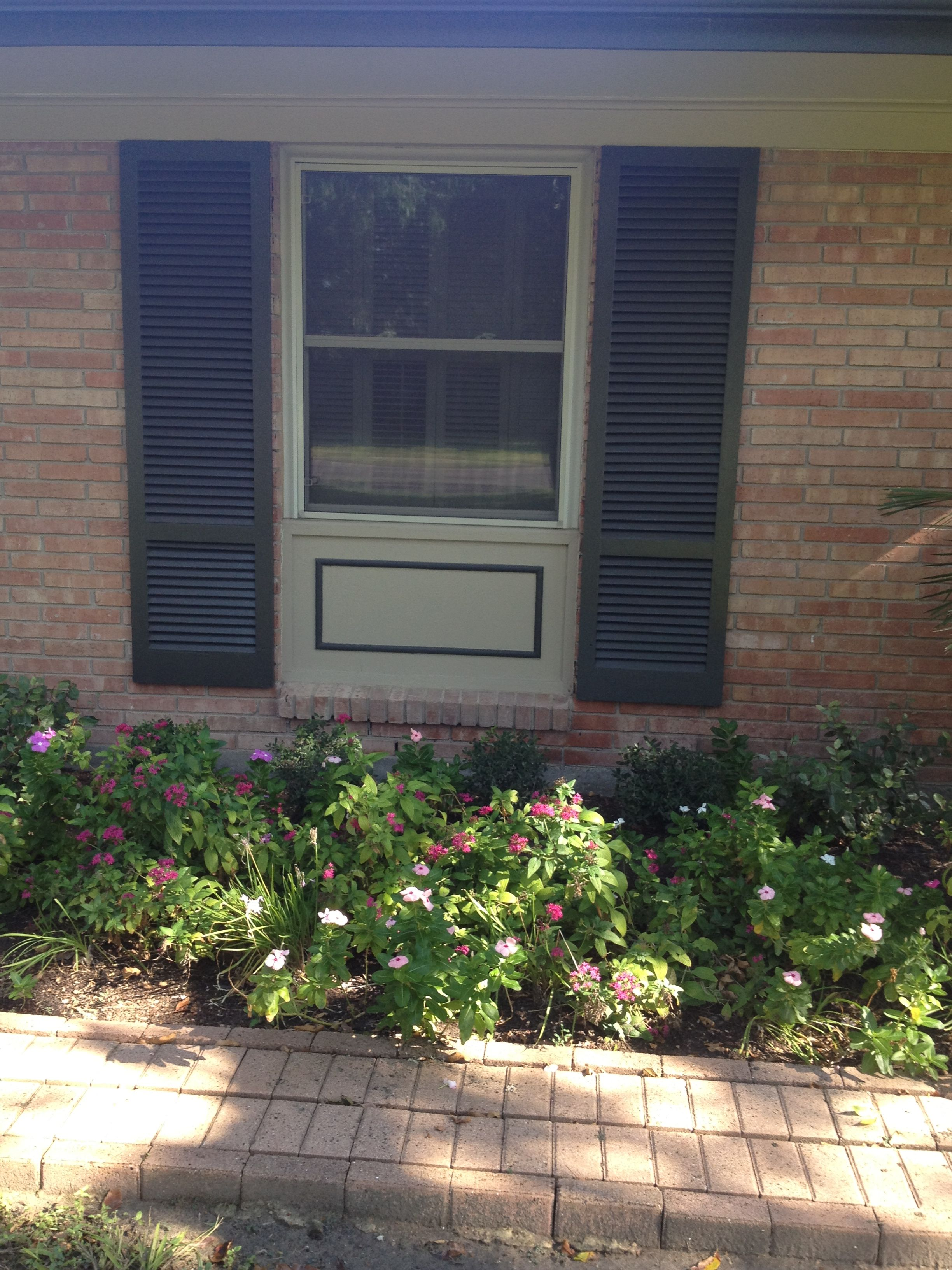 Elongating An Exterior Window With Trim And Shutters Exterior