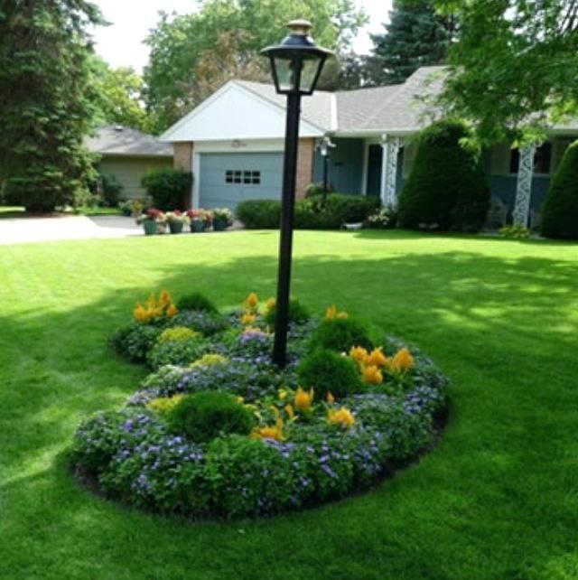 Lawn Begone 7 Ideas For Front Garden Landscapes: Flower Bed Landscaping Ideas Popular Garden Island