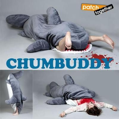 Chumbuddy 2 giant handmade shark sleeping bag & designer plush figure