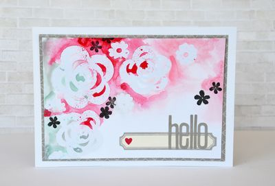 Hello card by Leanne Allinson featuring Jillibean Soup Happy Hues, Stamps! and Soup Staples III