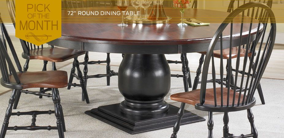 72 Inch Round Dining Table Reminds Me Of The More Primitive