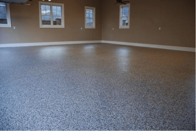 The Pros And Cons Of Epoxy Flooring Painting Basement Floors Epoxy Floor Painted Concrete Floors