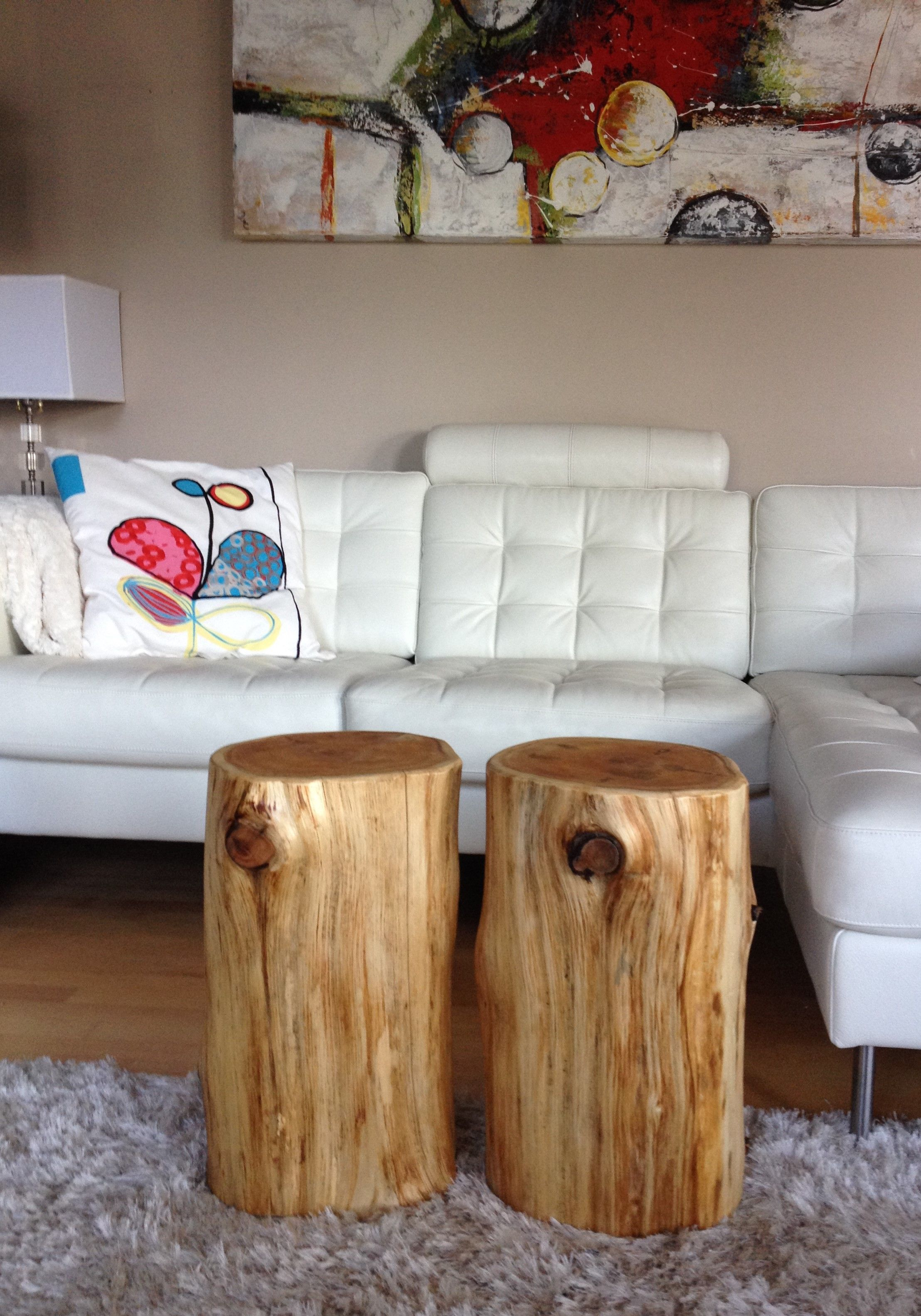 Stump End Table   Cedar Stump Coffee Table Www.serenitystumps.com