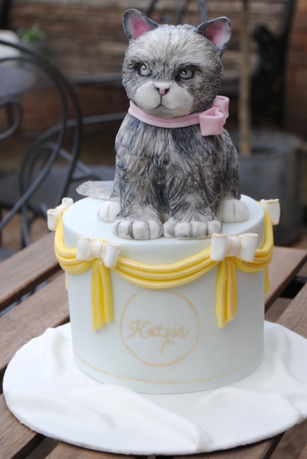 Birthday Cat Cake Cake by Beckys Blooming Bakery Cats Cakes