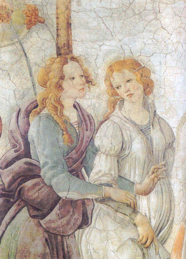 """sandro botticelli   Sandro Botticelli """"Vénus et les Grâces"""" (détail) vers1484 © Musée ..."""