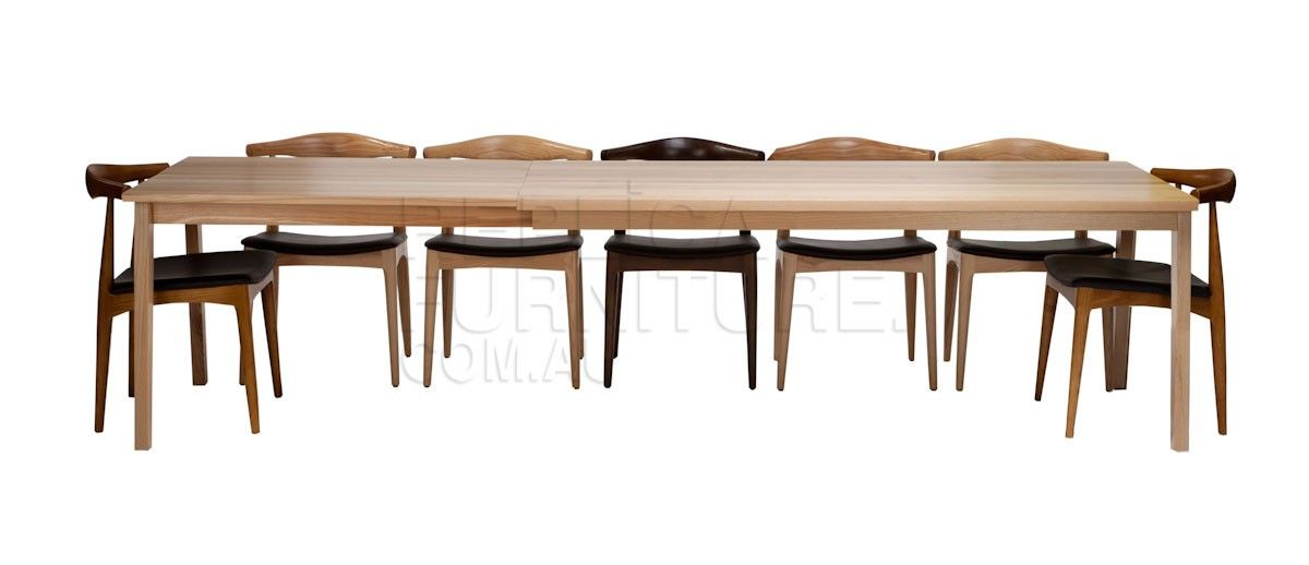 Replica carl hanson sh900 extendable dining table fully for Dining table chairs sydney