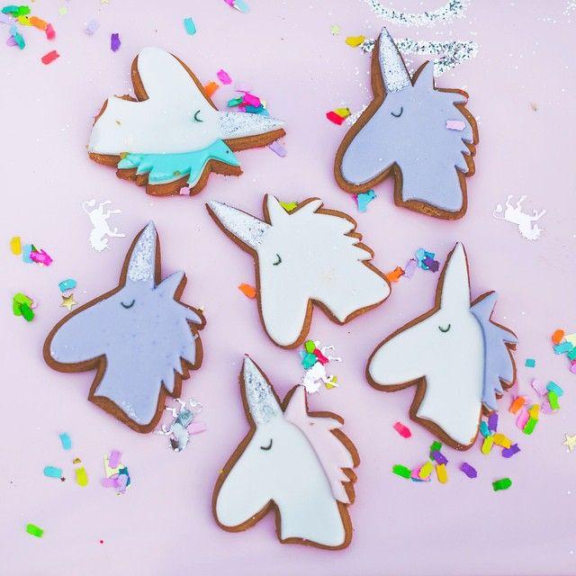 Unicorn Cookies + Confetti