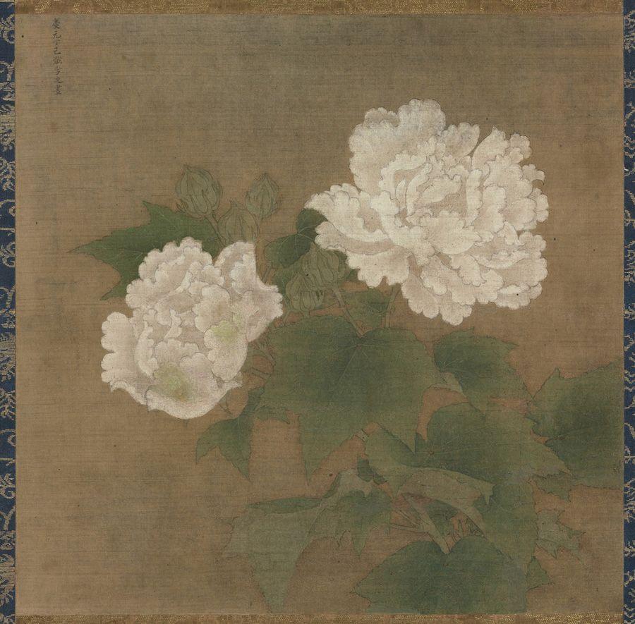 White Cotton Roses (紅白芙蓉圖) Li Di (李迪, active c.11631197