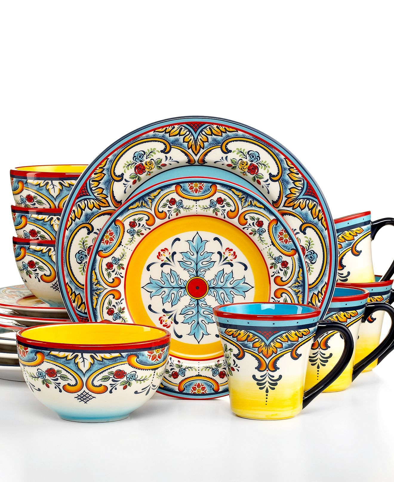 dinnerware zanzibar 16 piece set casual dinnerware dining u0026 macyu0027s