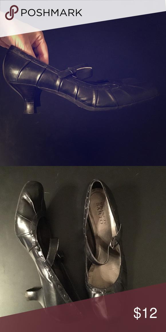 """Black Franco Sarto heels with strap Gently used strappy heel 2"""" Franco Sarto Shoes Heels"""