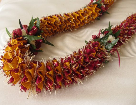 Graduation Lei Brown and Yellow Gold