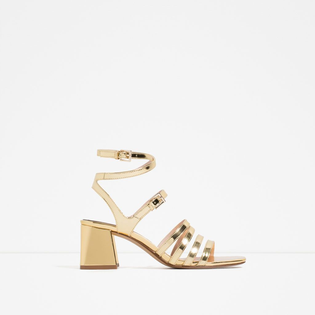 Zara block high heel sandal | Shoes!!! | Zapatos, Sandalias