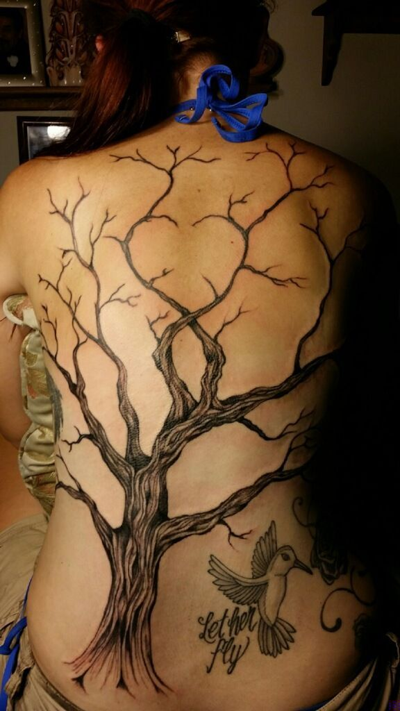 Oak Tree With Roots Tattoo: Winding Tree Tattoos On The Back