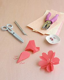 Paper Cherry Blossoms Paper Flowers Flower Crafts Crafts