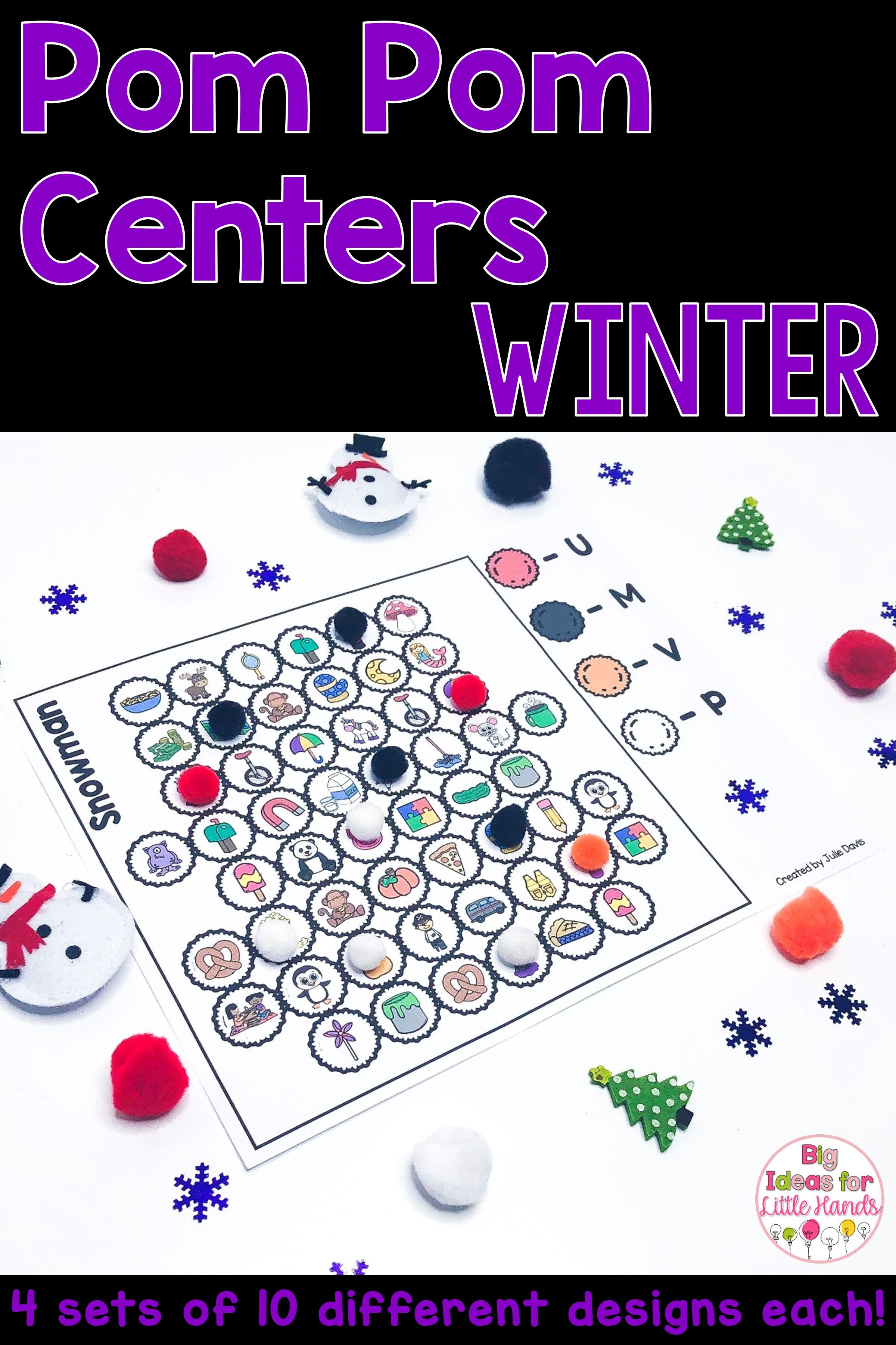 Winter Math And Literacy Center Activities