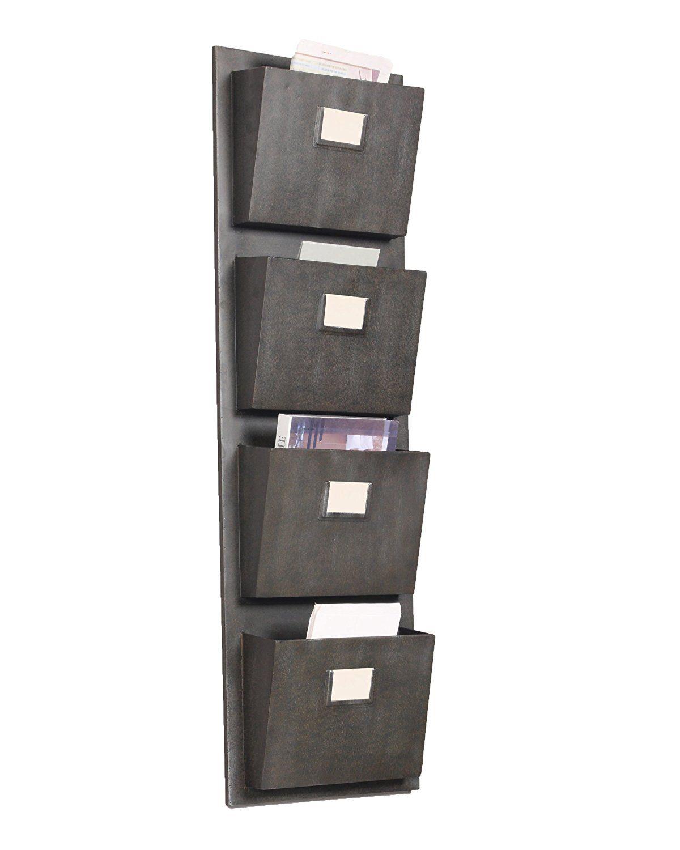 Amazon.com: Linon 4 Slot Hanging Metal Mailbox: Home U0026 Kitchen