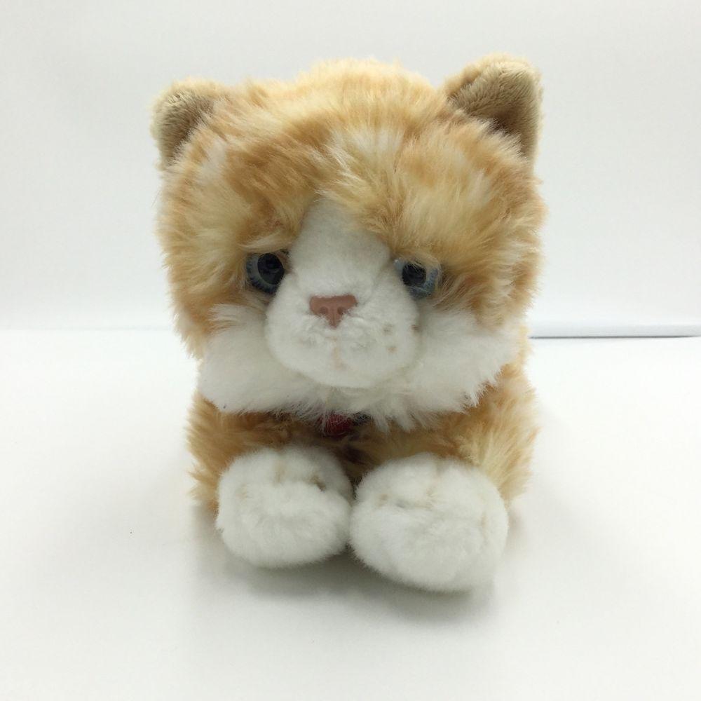 Keel Toys Orange White Tabby Cat Stripes Plush Stuffed