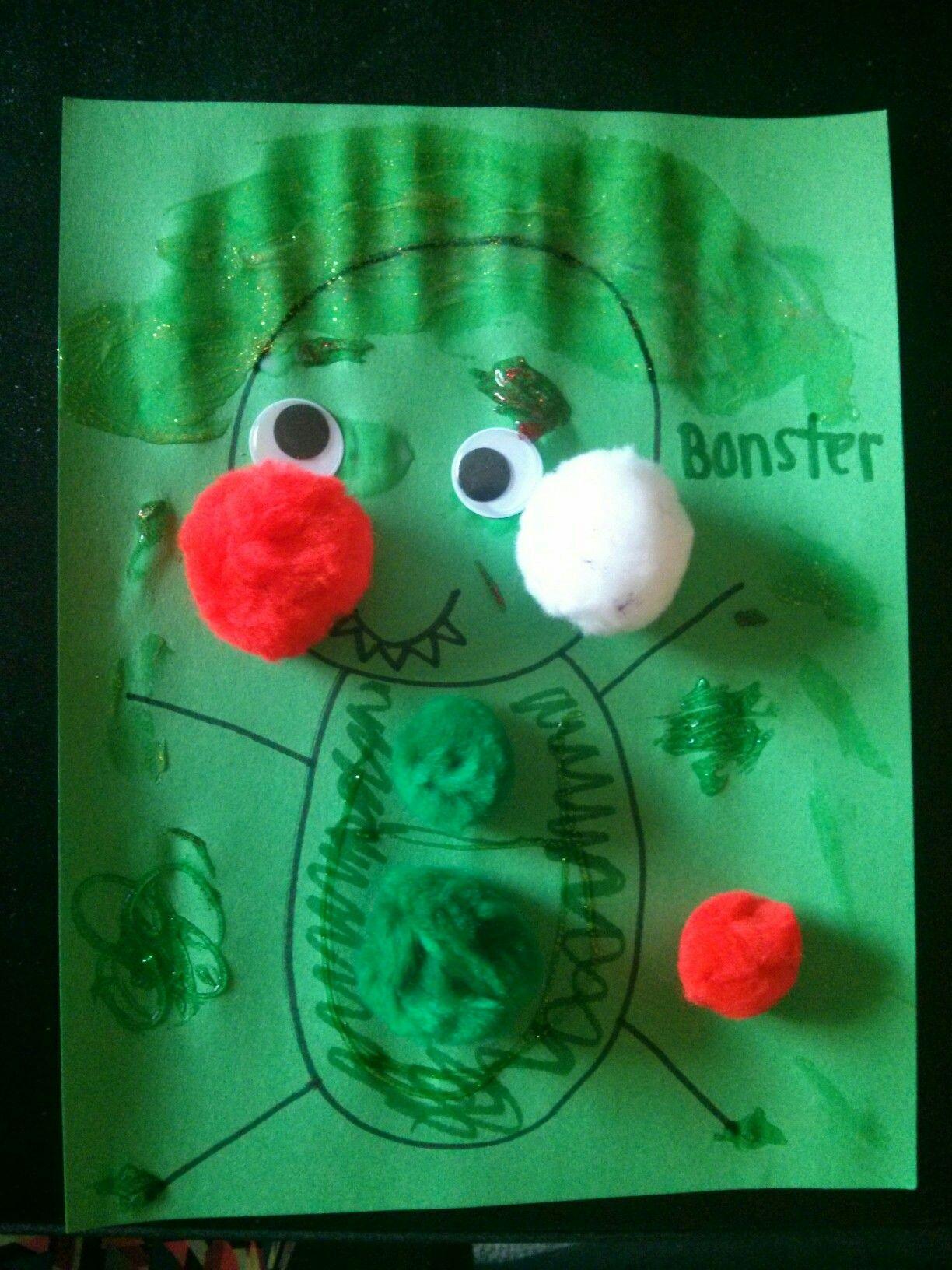 2 Year Old Preschool Activity  Pom Poms, Glitter Glue,