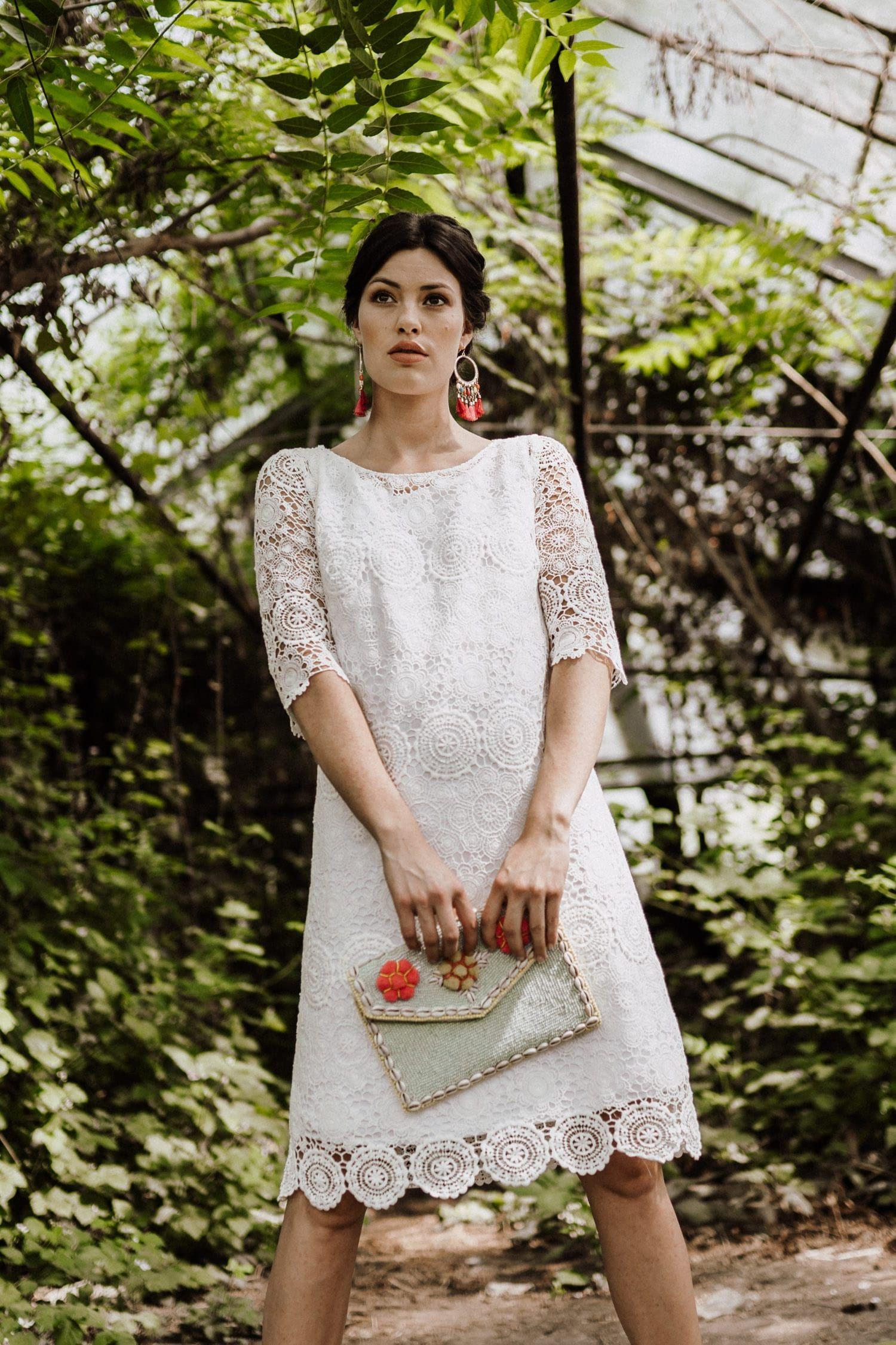 Kurze Hochzeitskleider Köln: Zauberhaft mit Spitze ♥ Boho oder