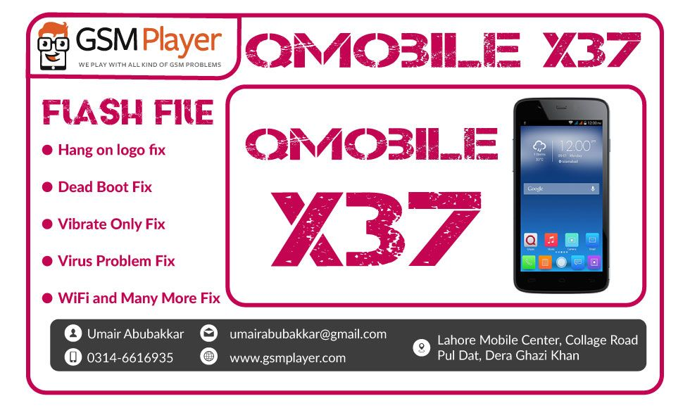 qmobile x37 flash file