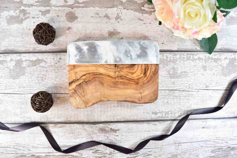 Grey Silver Resin Serving Board 20cm Charcuterie Tapas