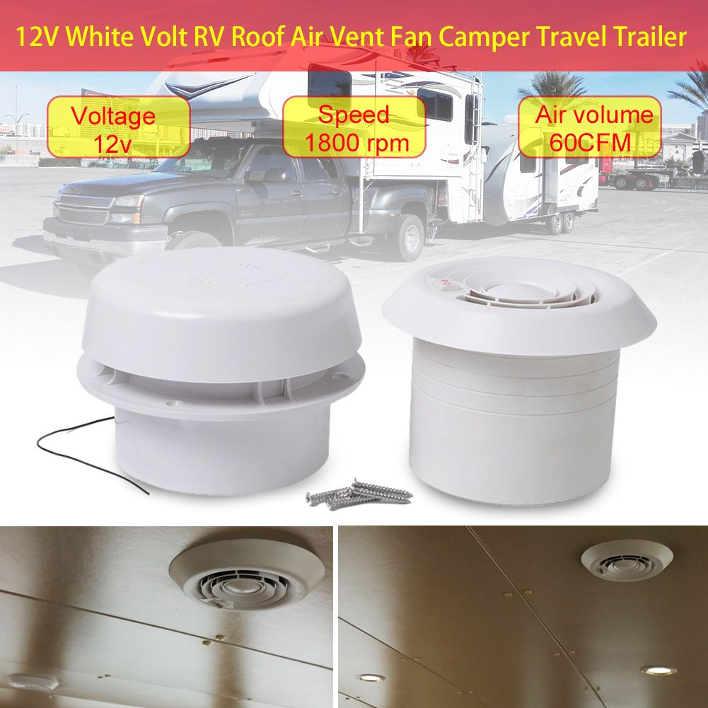 Best Seller Caravan Rv Accessories 12v Rv Roof Mushroom Head Silent Fan 12v White Volt Rv Roof Air Vent Fan Campe In 2020 Roof Air Vent Travel Trailer Rv Accessories